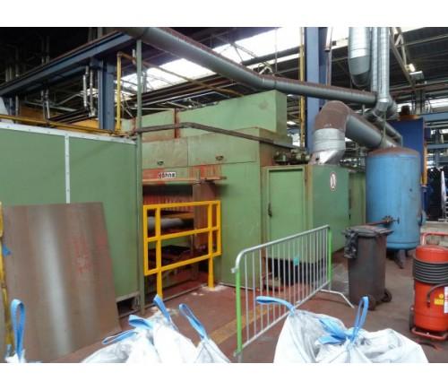 Strahl- und konservierungsanlage