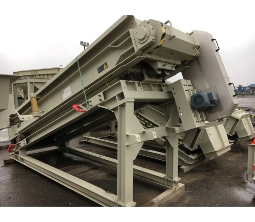 Cleaning line for sand or Incinerator bottom ash